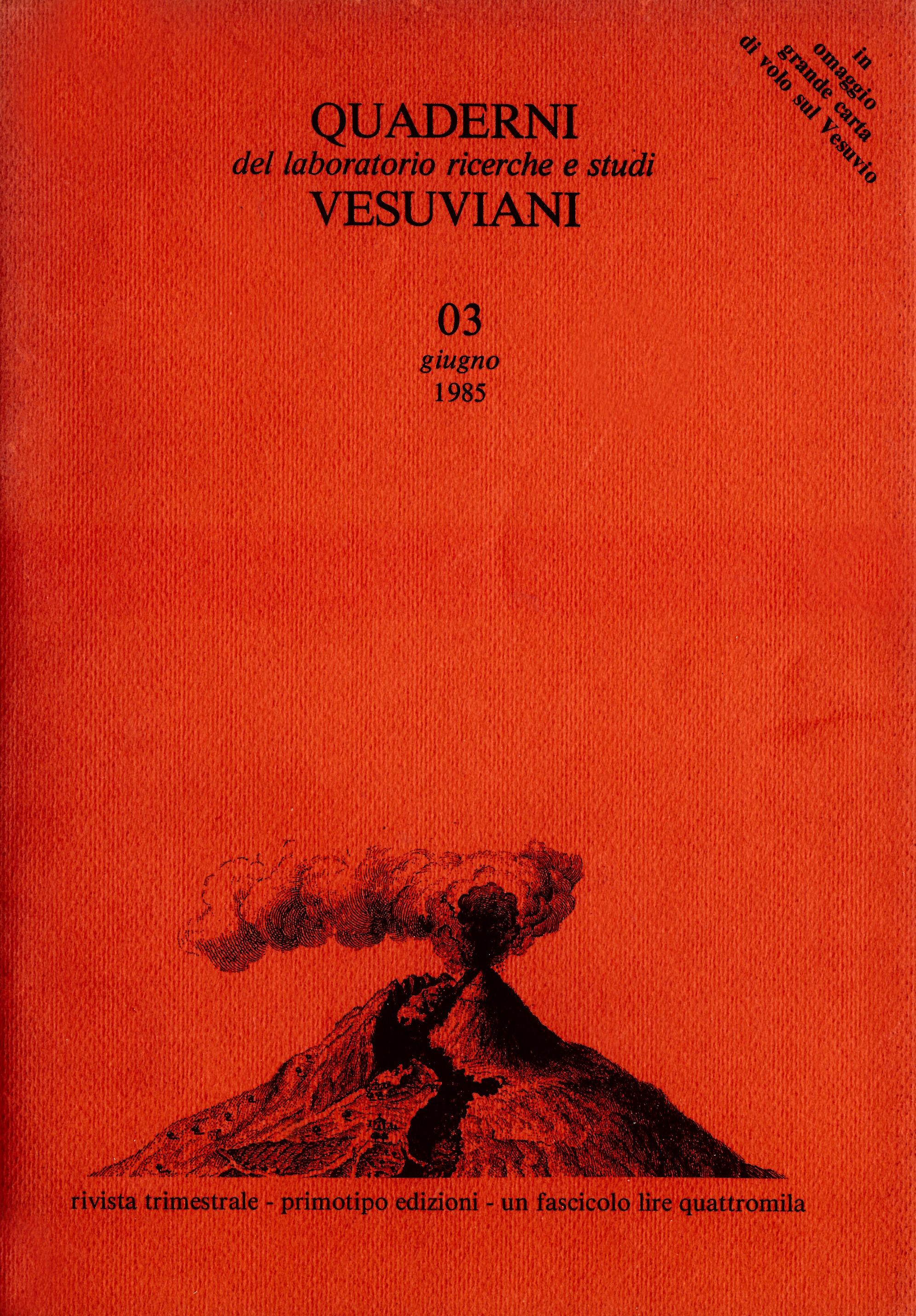 Quaderni vesuviani, Giugno 1985