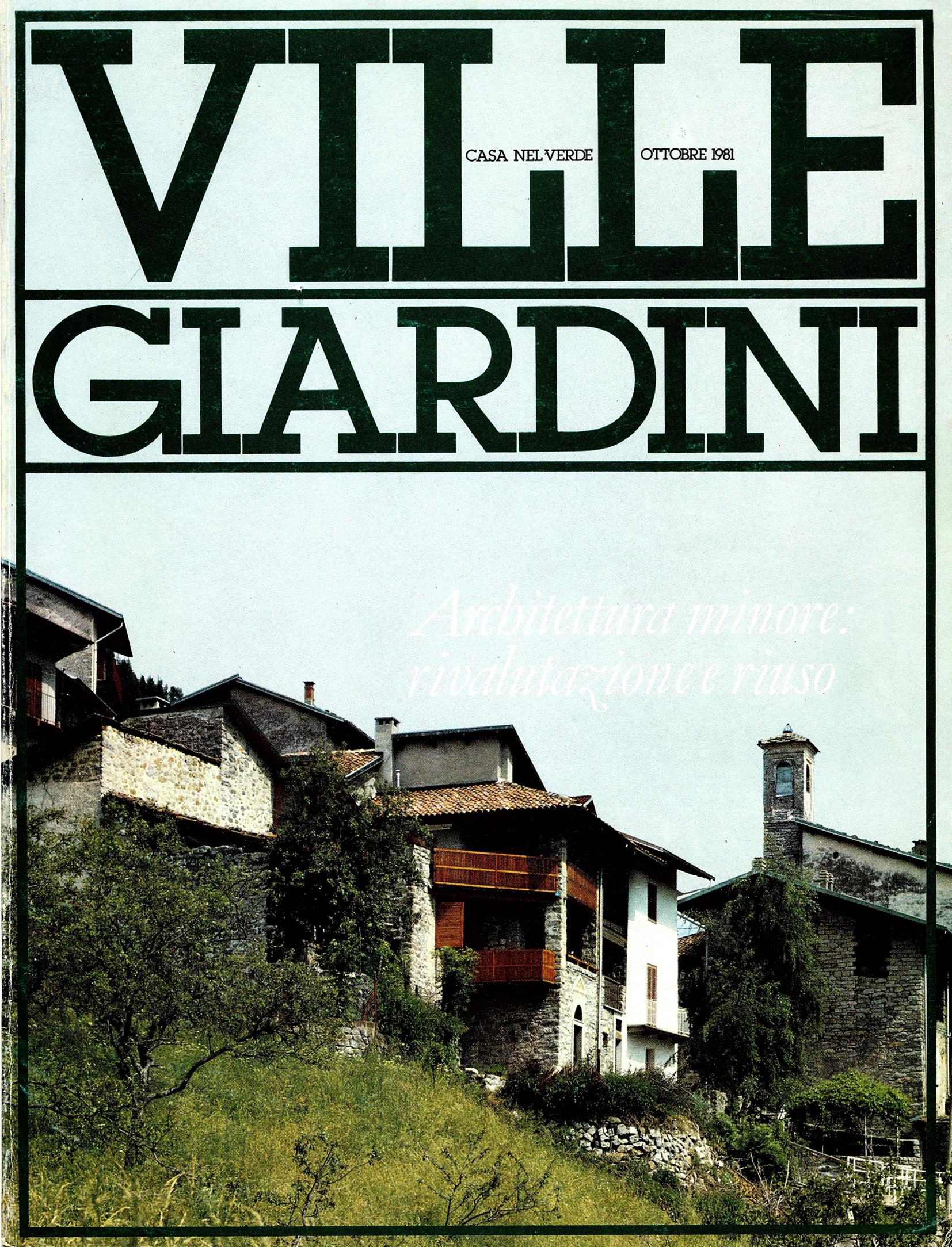 Ville e Giardini, Ottobre 1981