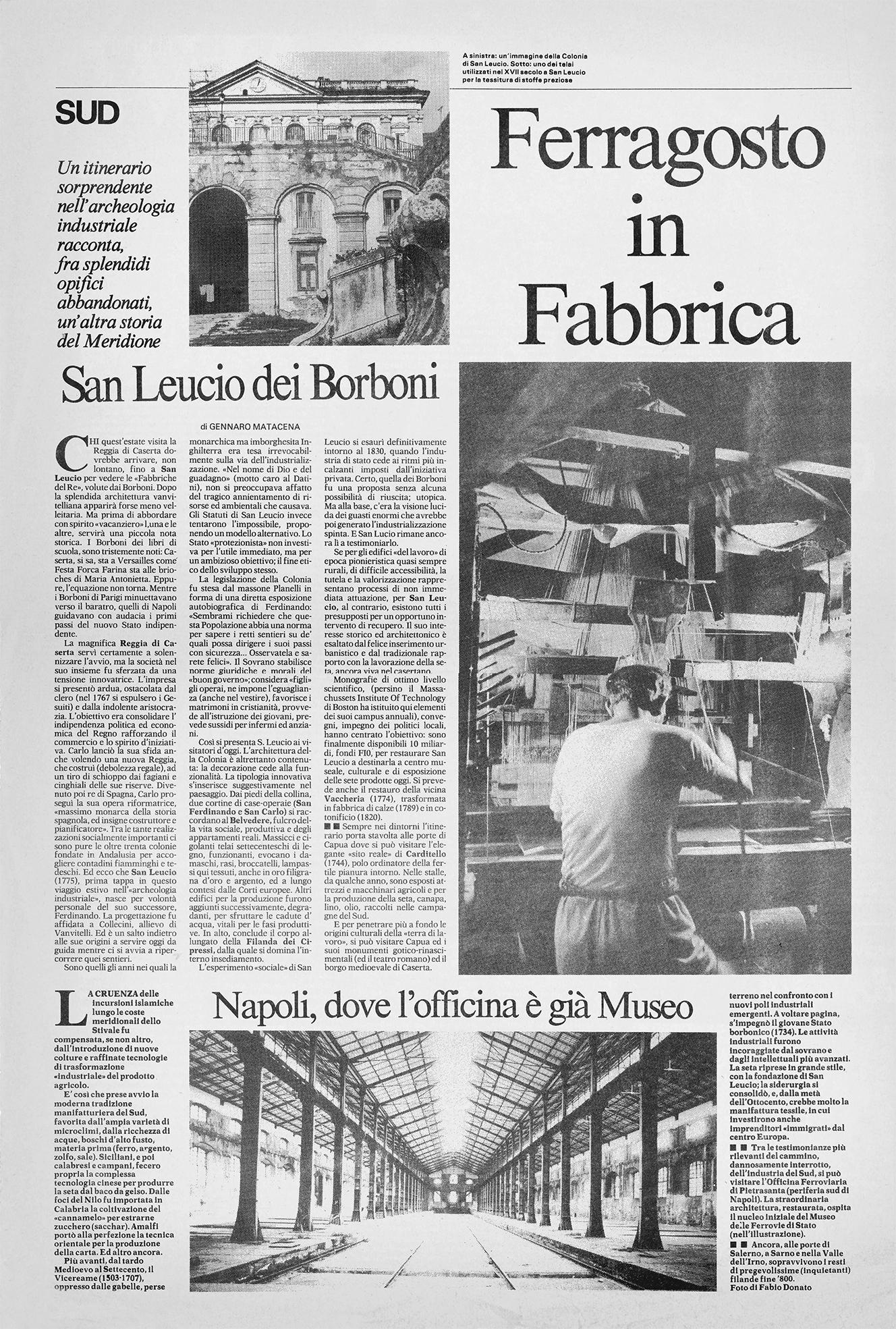 La Repubblica, 14 Agosto 1986