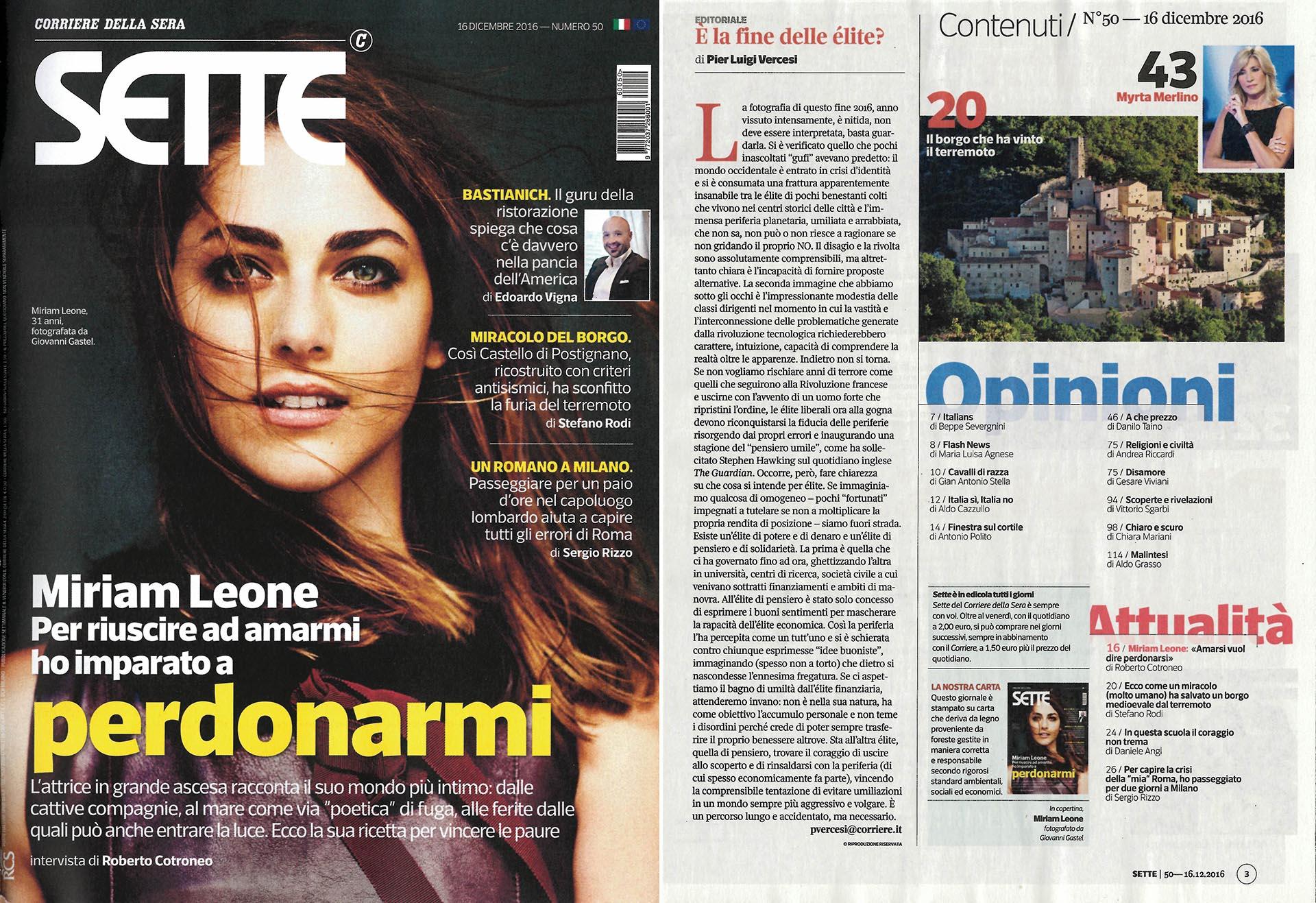 Sette - Corriere della Sera, 16 dicembre 2016